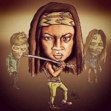 Michonne (Danai Gurira) from The Walking Dead