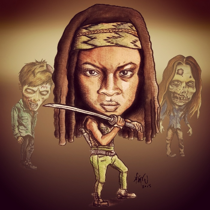 Michonne (Danai Gurira) from The Walking Dead